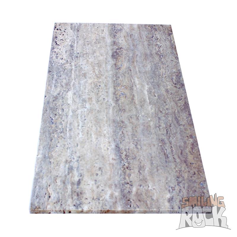 Silver Travertine Vein Cut